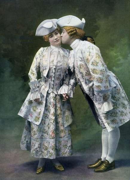 Marguerite Fournier and Bergerat in ' Monsieur de la Palisse'