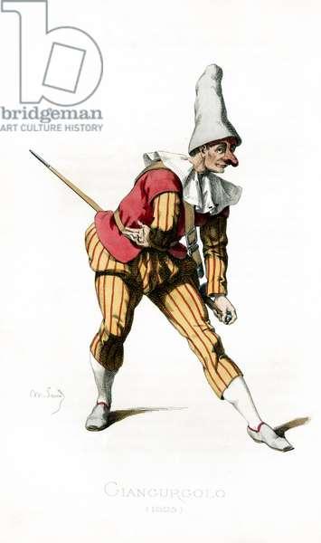 Giangurgolo costume dated 1625