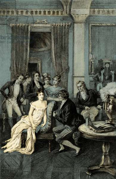 Madame Juliette Recamier Surrounded
