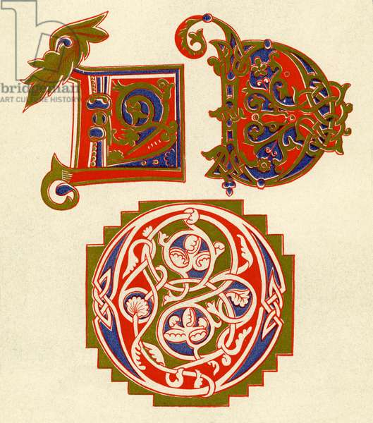 Illuminated letters D and O