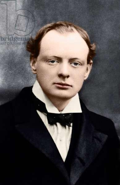 Sir Winston Churchill as young man