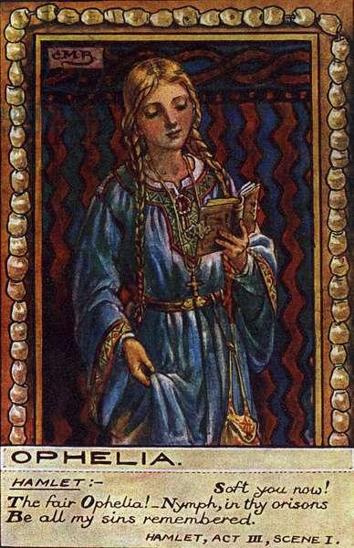 Ophelia, from Shakespeare's 'Hamlet'.