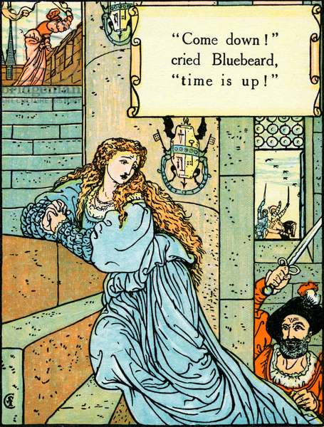 Blue Beard illustrated by Walter Crane