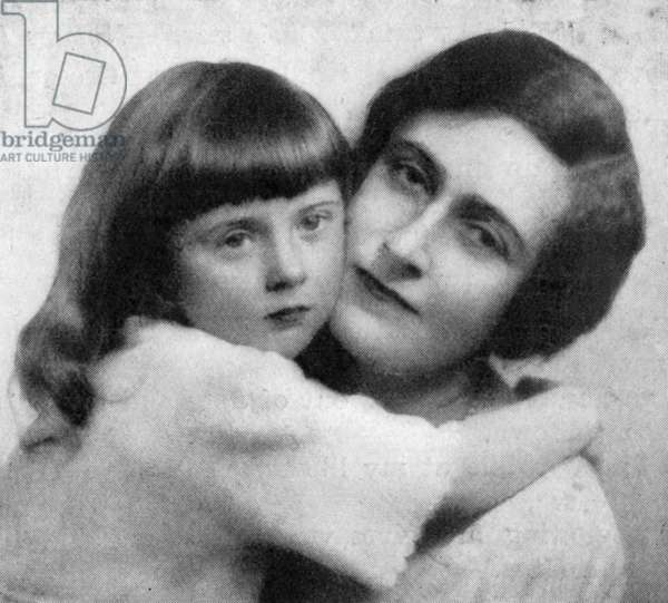 Agatha Christie with her