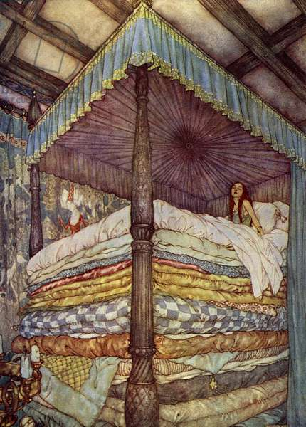 The Princess and the Pea Book Plate, France, 1915 (lithograph)