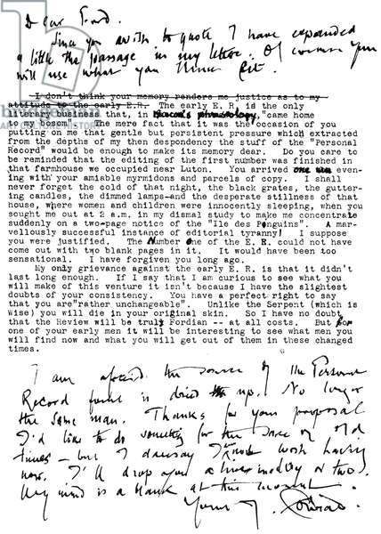 Joseph Conrad - Handwritten