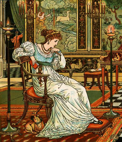 Illustration from  Madame d'Aulnoy's fairy tale