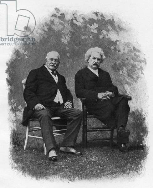 Mark Twain and W D Howells at Lakewood, 1908