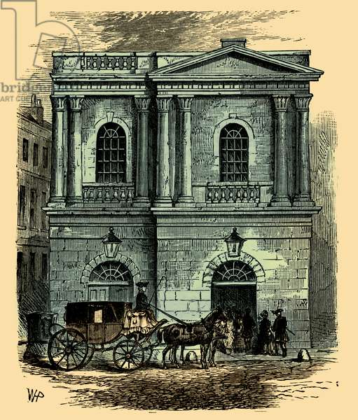 Entrance to the Opera House, London, 1800