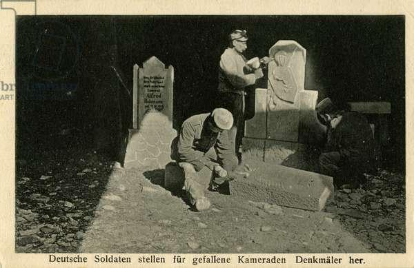 German soldiers make memorials