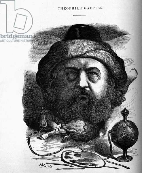 Caricature of Theophile Gautier