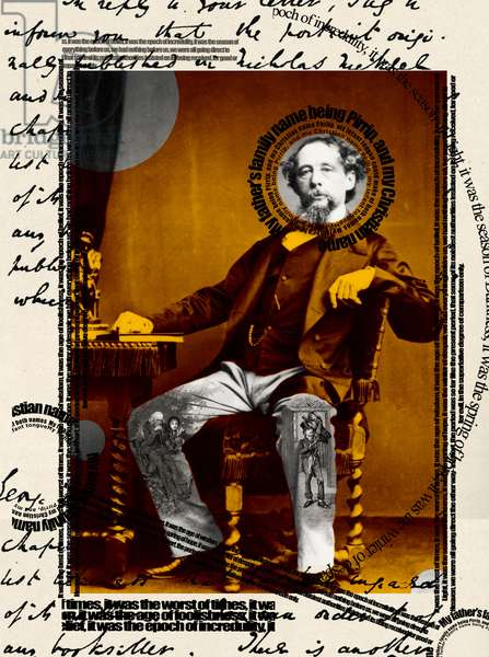 Charles Dickens collage and