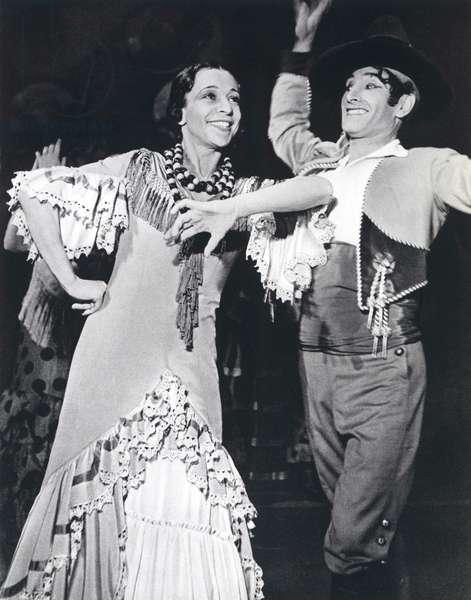 La Argentina , Antonia Mercé, gypsy dancer from Valladolid with Vicente Escudero,  performing in El Amor Bujo by Manuel de Falla at Paris Opera May 1936.