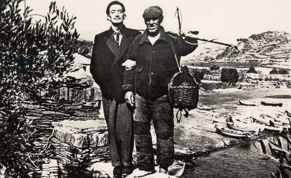 Salvador Dalí and a