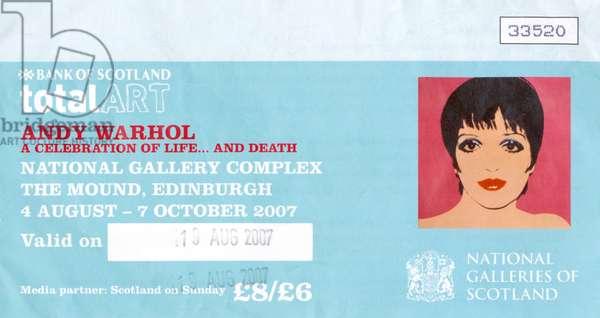 Andy Warhol exhibition ticket