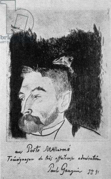 Portrait of Stéphane Mallarmé by Paul Gauguin