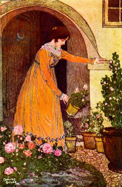 illustration for Shirley by Charlotte Bronte, 1922 (lithograph)