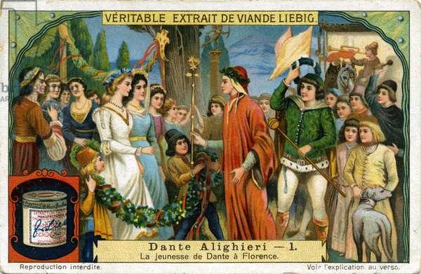Dante Alighieri, his youth in Florence