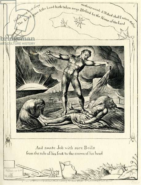 The Book of Job 2: 7 Illustrated by William Blake