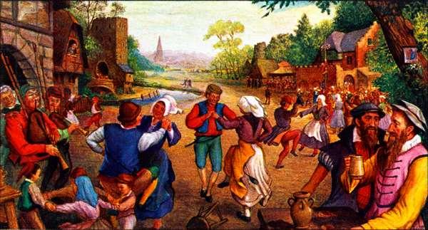Pieter Bruegel and Hans Francken at a village fair