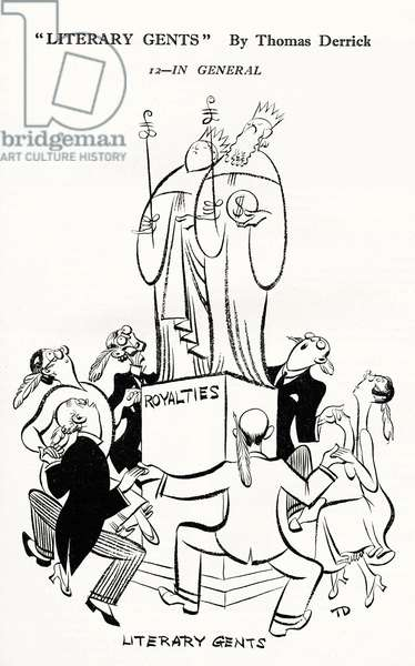 Literary Gents - caricature
