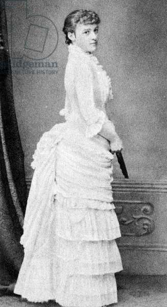 Edith Wharton as a debutante, c. 1862