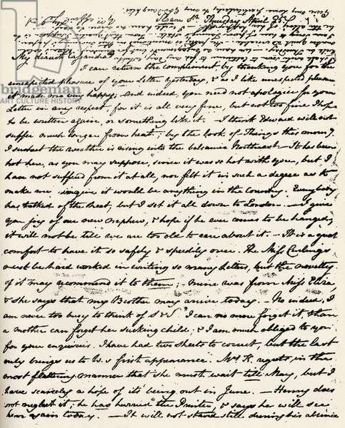 Jane Austen - Letter