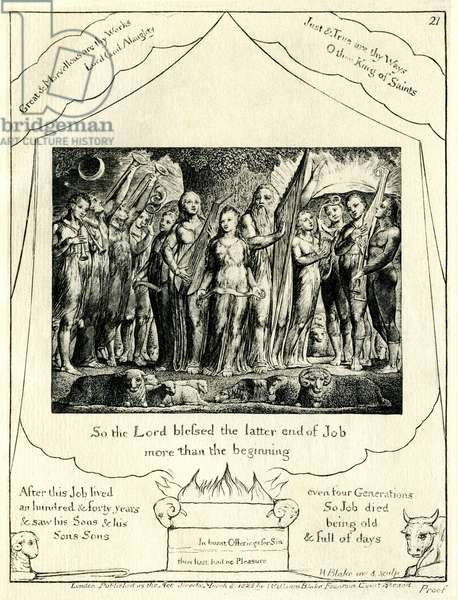The Book of Job 42:12 illustrated by William Blake