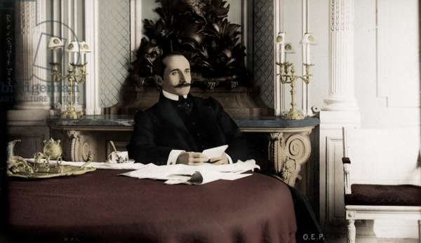 Edmond Rostand portrait seated