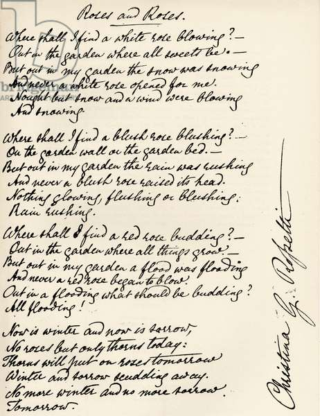 Christina Rossetti - Signed