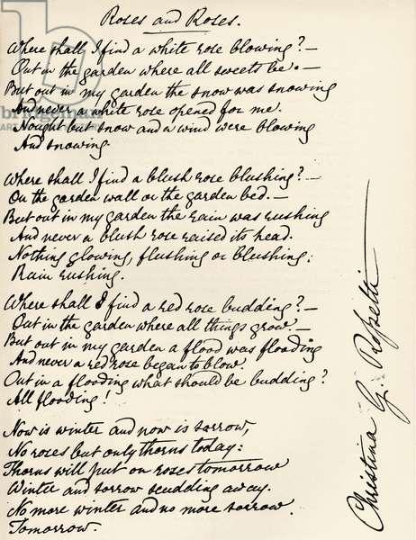 Christina Rossetti - Signed