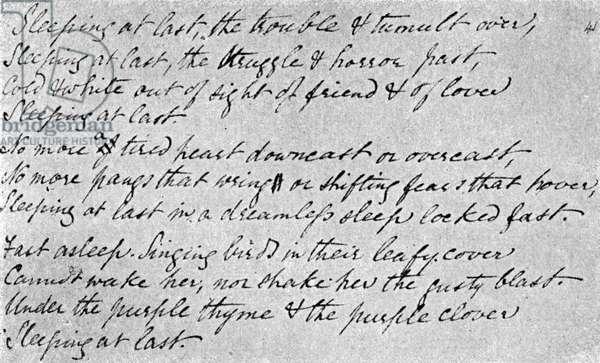Christina Rossetti - Handwriting