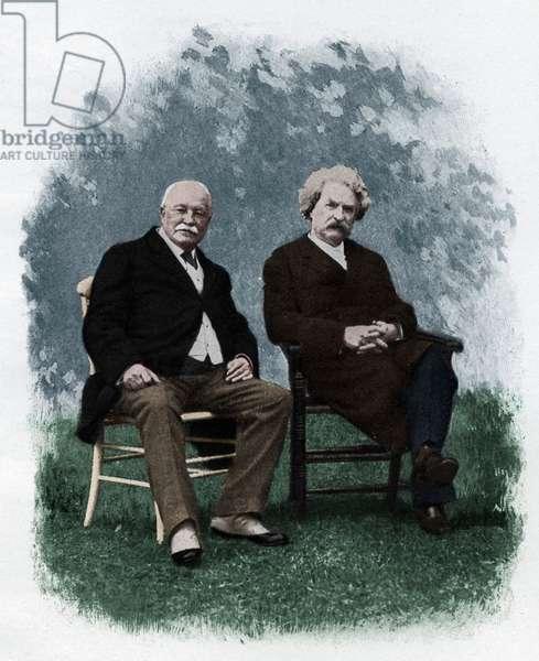 Mark Twain and W D Howells at Lakewood, 1908