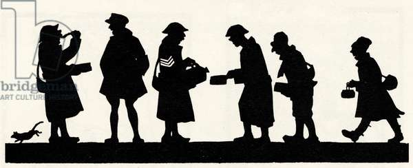 Silhouette of British soldiers