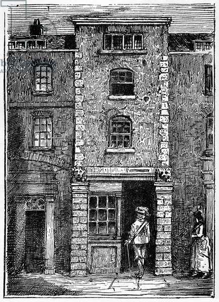 Dryden 's lodgings in Fetter Lane, London