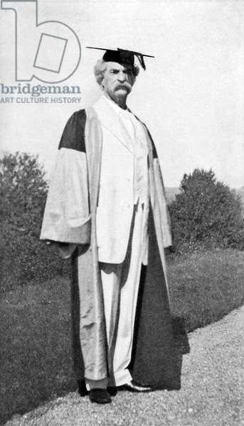 Mark Twain as  Doctor of Letters, Oxford