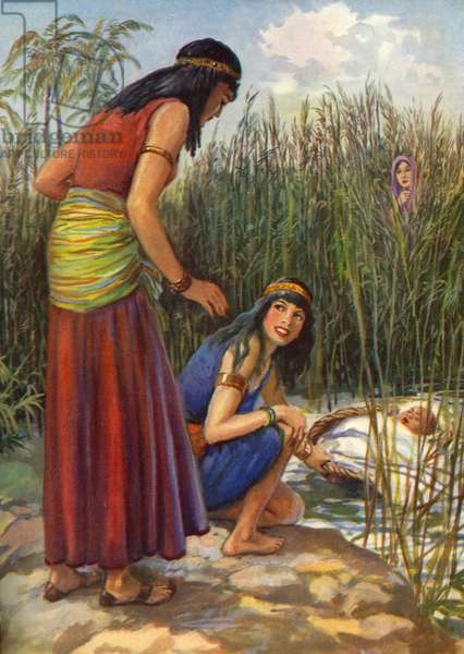 Moses is found in the bulrushes