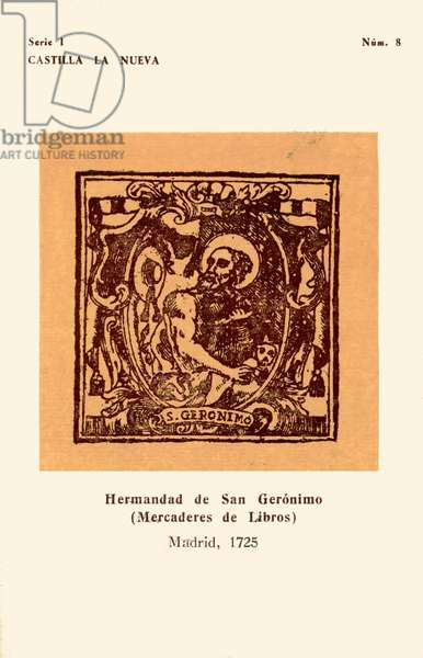Booksellers' mark: Hermandad de S. Gerónimo, 1725