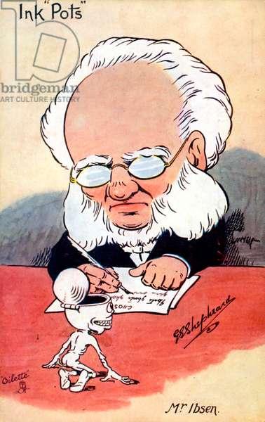 Henrik Ibsen caricature