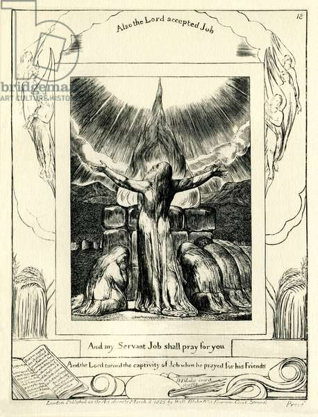 The Book of Job42:8 illustrated by william Blake