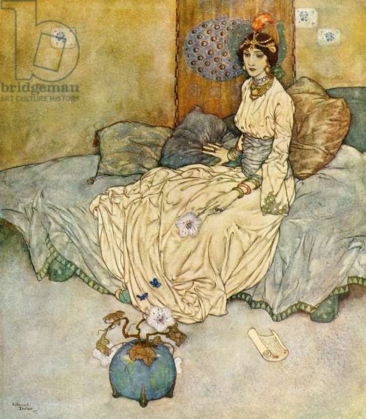The story of the princess of Deryabar, illustration from the Arabian Nights, 1907 (lithograph)
