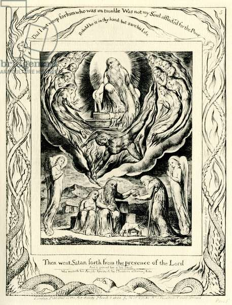 The Book of Job2:7 illustrated by William Blake