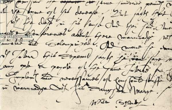 William Shakespeare - signature