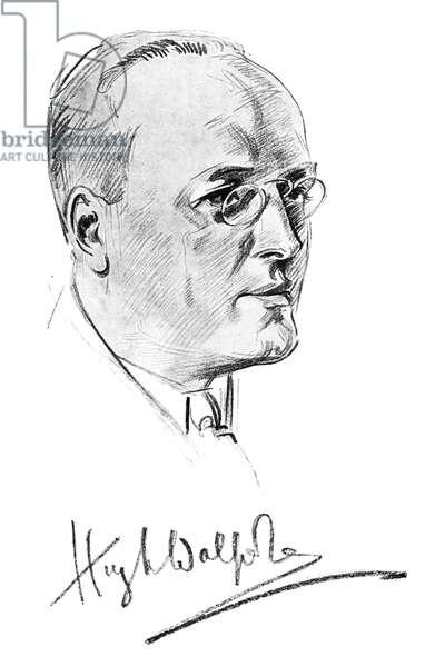 Hugh Walpole - drawing