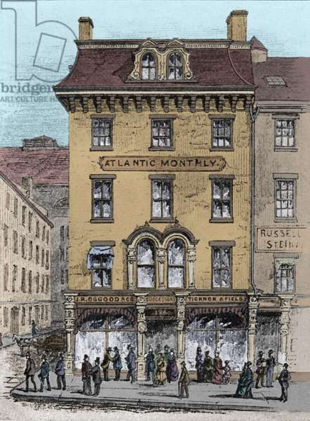 The 'Atlantic Monthly' office, 124 Tremont Street