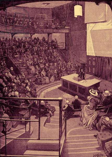 Lecture room at the  Royal Institution, London
