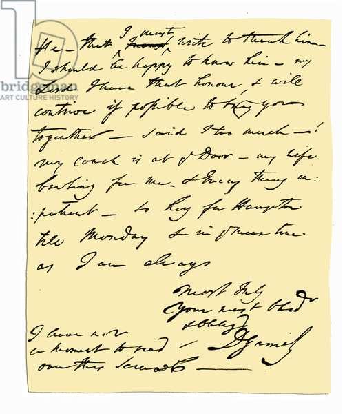 Autograph: David Garrick, 1776.
