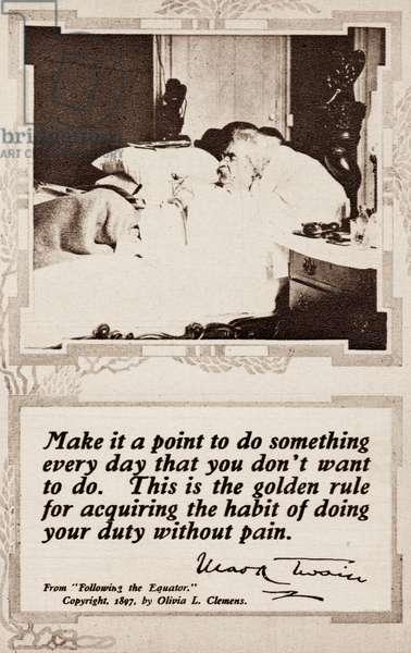 Mark Twain - on