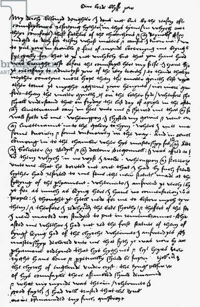 Letter from Sir Thomas More