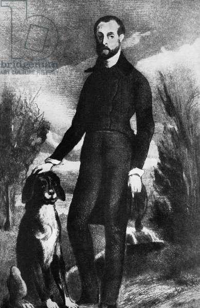 Petrus Borel after engraving